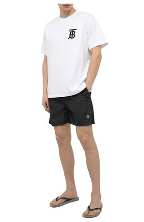 Мужские плавки-шорты STONE ISLAND темно-серого цвета, арт. 7415B0943   Фото 2