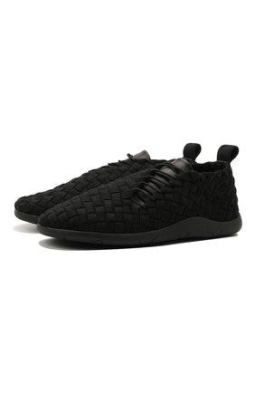 Мужские текстильные кроссовки BOTTEGA VENETA черного цвета, арт. 651306/V0GV1 | Фото 1 (Подошва: Плоская; Материал внутренний: Натуральная кожа; Стили: Гранж; Материал внешний: Текстиль)
