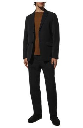 Мужские текстильные кроссовки BOTTEGA VENETA черного цвета, арт. 651306/V0GV1 | Фото 2 (Подошва: Плоская; Материал внутренний: Натуральная кожа; Стили: Гранж; Материал внешний: Текстиль)
