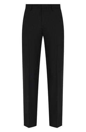Мужские шерстяные брюки DRIES VAN NOTEN черного цвета, арт. 211-20921-2227 | Фото 1