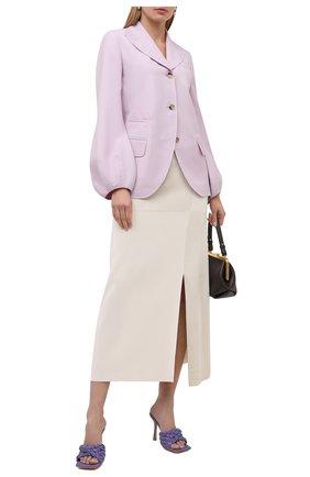 Женские текстильные мюли BOTTEGA VENETA сиреневого цвета, арт. 652451/V0GM0 | Фото 2