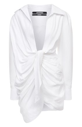 Женское платье из вискозы JACQUEMUS белого цвета, арт. 211DR09/102100 | Фото 1