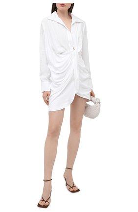 Женское платье из вискозы JACQUEMUS белого цвета, арт. 211DR09/102100 | Фото 2