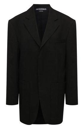 Женский жакет JACQUEMUS черного цвета, арт. 211JA04/103990 | Фото 1