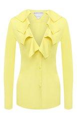 Женская блузка из вискозы BOTTEGA VENETA желтого цвета, арт. 646584/V01N0   Фото 1