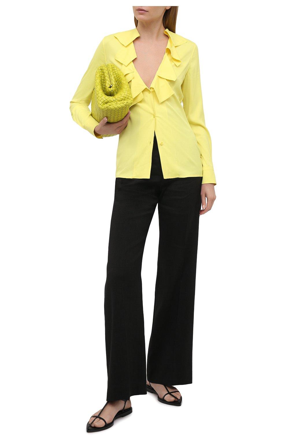 Женская блузка из вискозы BOTTEGA VENETA желтого цвета, арт. 646584/V01N0   Фото 2