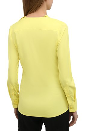 Женская блузка из вискозы BOTTEGA VENETA желтого цвета, арт. 646584/V01N0   Фото 4