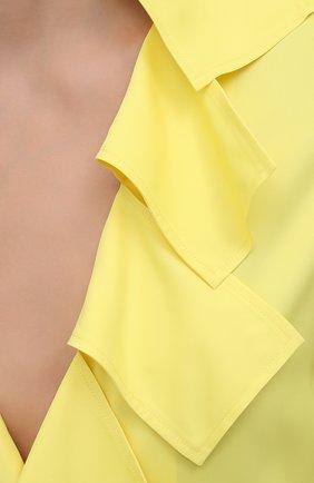 Женская блузка из вискозы BOTTEGA VENETA желтого цвета, арт. 646584/V01N0   Фото 5