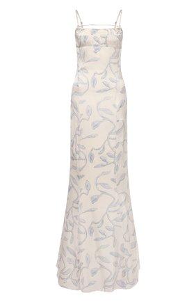 Женское платье из вискозы JACQUEMUS голубого цвета, арт. 211DR12/104323 | Фото 1