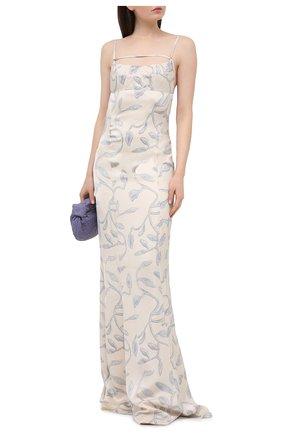 Женское платье из вискозы JACQUEMUS голубого цвета, арт. 211DR12/104323 | Фото 2