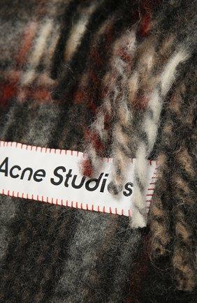 Женский шерстяной шарф ACNE STUDIOS темно-серого цвета, арт. CA0118/W   Фото 2