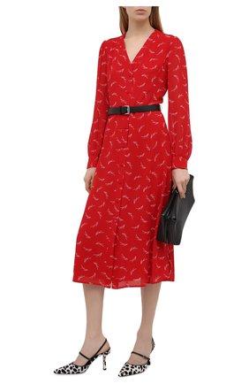 Женское платье MICHAEL MICHAEL KORS красного цвета, арт. MH08Y46GKY | Фото 2