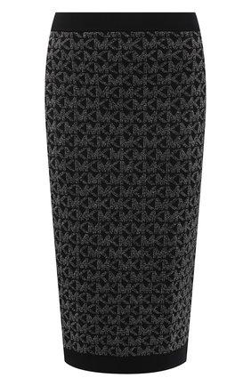 Женская юбка MICHAEL MICHAEL KORS черного цвета, арт. MH07F5VGLH | Фото 1