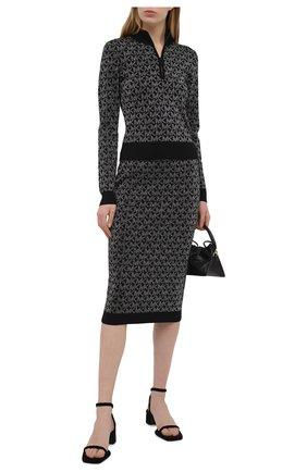 Женская юбка MICHAEL MICHAEL KORS черного цвета, арт. MH07F5VGLH | Фото 2