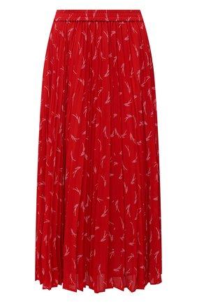 Женская плиссированная юбка MICHAEL MICHAEL KORS красного цвета, арт. MH07F1RGKY | Фото 1