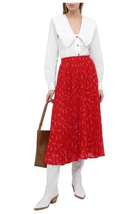 Женская плиссированная юбка MICHAEL MICHAEL KORS красного цвета, арт. MH07F1RGKY | Фото 2