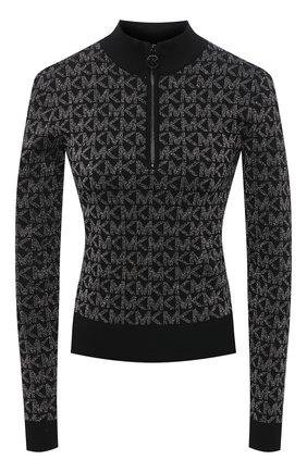 Женское пуловер MICHAEL MICHAEL KORS черного цвета, арт. MH06PFEGLH | Фото 1