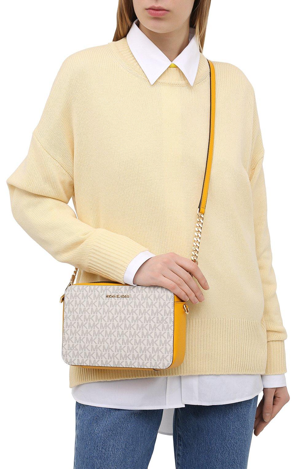 Женская сумка jet set medium MICHAEL MICHAEL KORS желтого цвета, арт. 32F8GF5M2B | Фото 2
