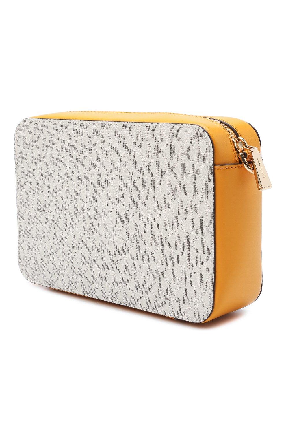 Женская сумка jet set medium MICHAEL MICHAEL KORS желтого цвета, арт. 32F8GF5M2B | Фото 3