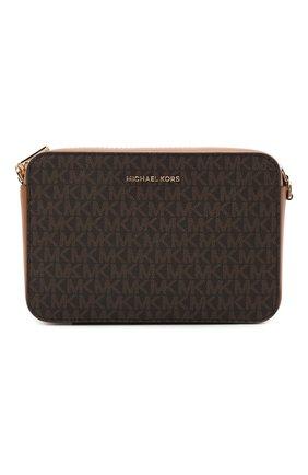 Женская сумка jet set medium MICHAEL MICHAEL KORS коричневого цвета, арт. 32F8GF5M2B   Фото 1