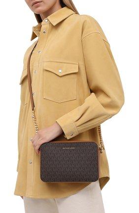 Женская сумка jet set medium MICHAEL MICHAEL KORS коричневого цвета, арт. 32F8GF5M2B   Фото 2