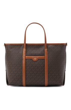 Женский сумка-тоут beck small MICHAEL MICHAEL KORS коричневого цвета, арт. 30T0GKNT1B   Фото 1