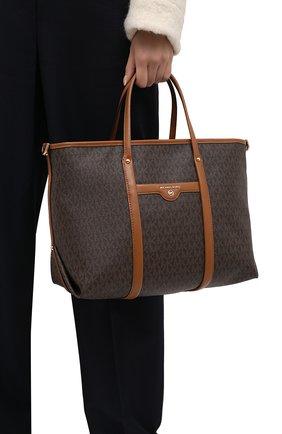 Женский сумка-тоут beck small MICHAEL MICHAEL KORS коричневого цвета, арт. 30T0GKNT1B   Фото 2