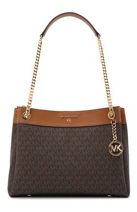 Женская сумка susan medium MICHAEL MICHAEL KORS коричневого цвета, арт. 30H9GUSL2B   Фото 1