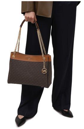 Женская сумка susan medium MICHAEL MICHAEL KORS коричневого цвета, арт. 30H9GUSL2B   Фото 2
