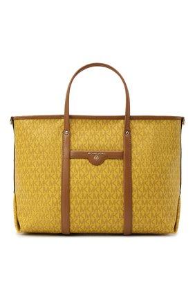 Женский сумка-тоут beck medium MICHAEL MICHAEL KORS желтого цвета, арт. 30H0LKNT2B | Фото 1