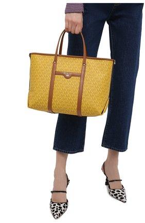 Женский сумка-тоут beck medium MICHAEL MICHAEL KORS желтого цвета, арт. 30H0LKNT2B | Фото 2