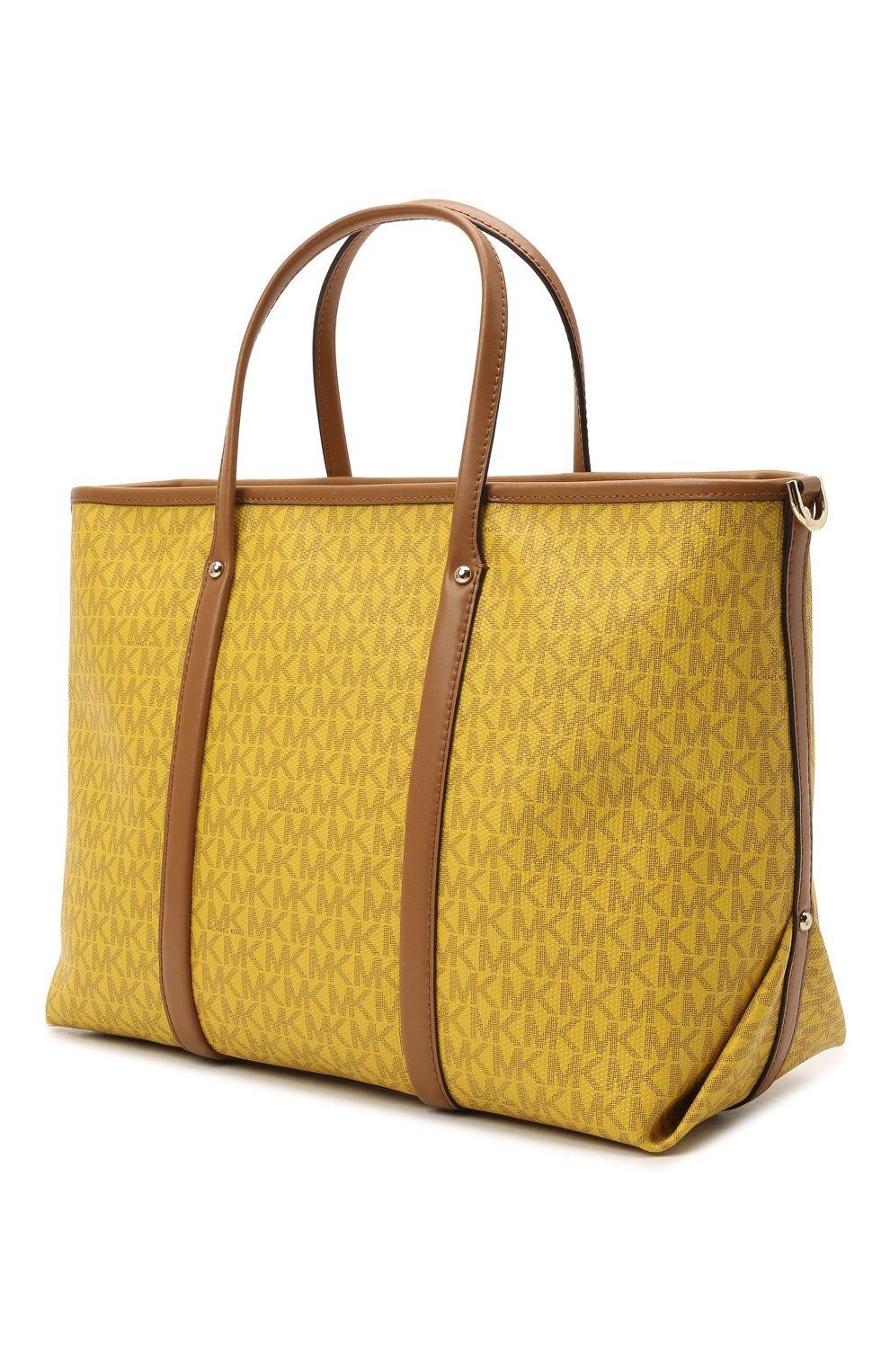 Женский сумка-тоут beck medium MICHAEL MICHAEL KORS желтого цвета, арт. 30H0LKNT2B | Фото 3
