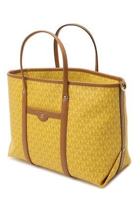 Женский сумка-тоут beck medium MICHAEL MICHAEL KORS желтого цвета, арт. 30H0LKNT2B | Фото 4