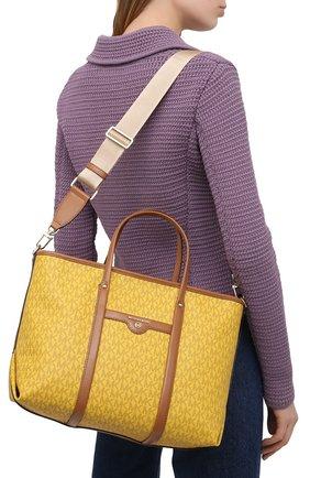 Женский сумка-тоут beck medium MICHAEL MICHAEL KORS желтого цвета, арт. 30H0LKNT2B | Фото 5