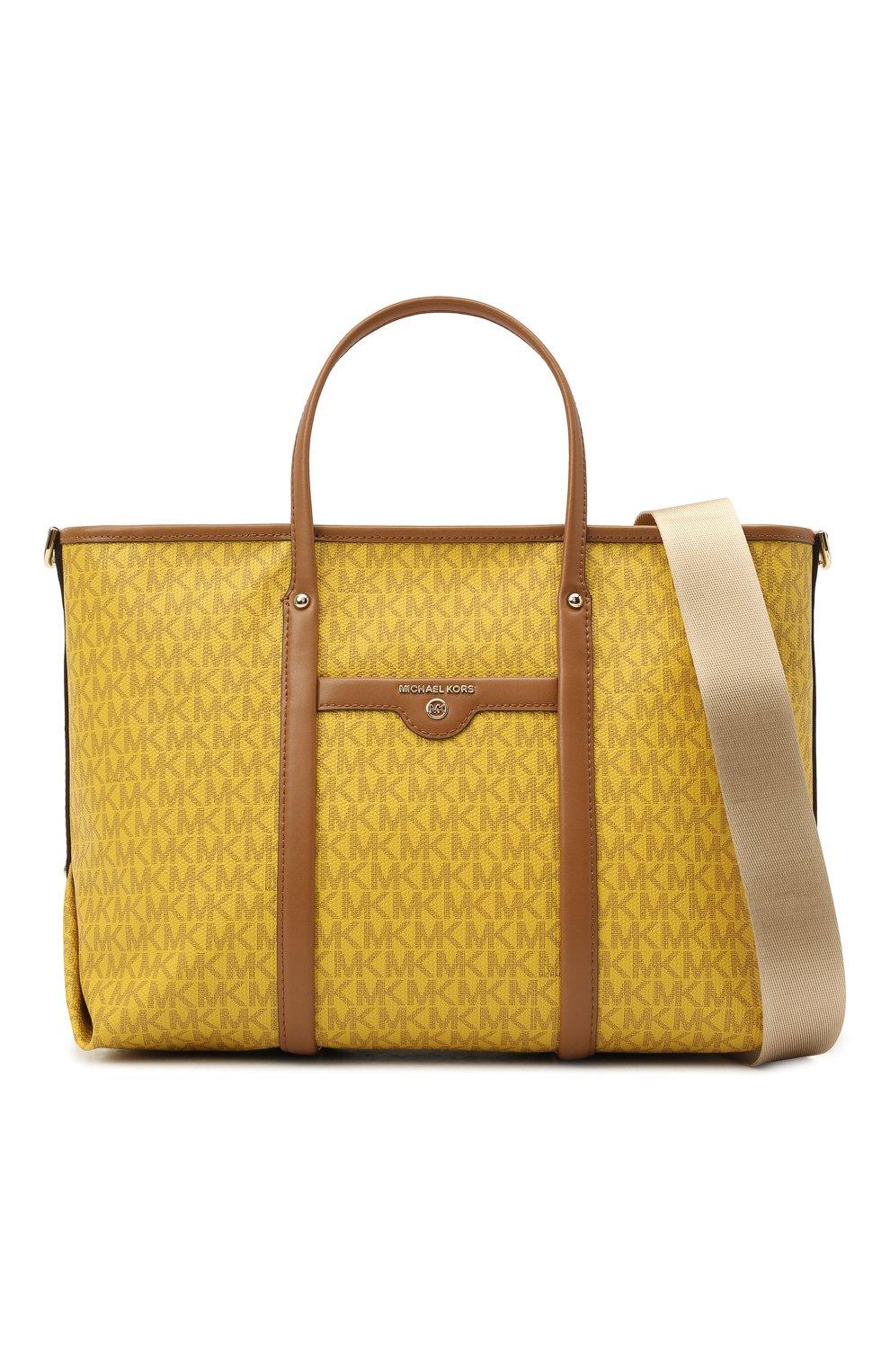 Женский сумка-тоут beck medium MICHAEL MICHAEL KORS желтого цвета, арт. 30H0LKNT2B | Фото 6