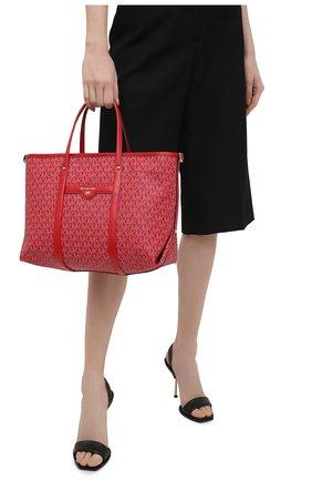 Женский сумка-тоут beck medium MICHAEL MICHAEL KORS красного цвета, арт. 30H0LKNT2B | Фото 2