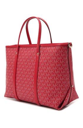 Женский сумка-тоут beck medium MICHAEL MICHAEL KORS красного цвета, арт. 30H0LKNT2B | Фото 3