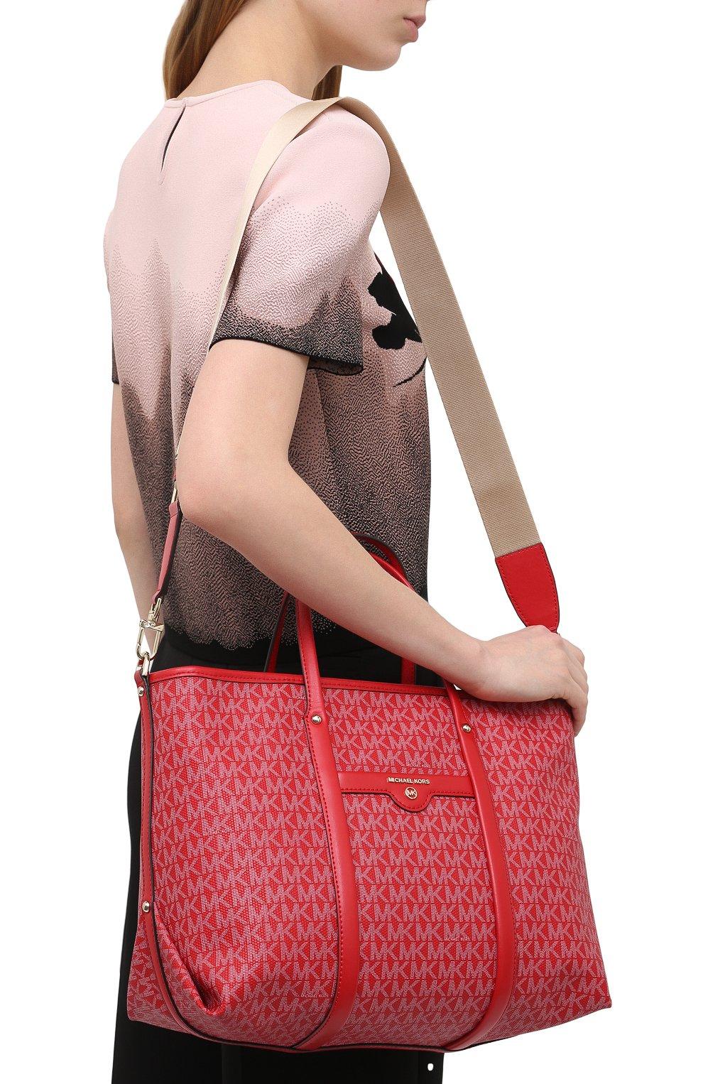 Женский сумка-тоут beck medium MICHAEL MICHAEL KORS красного цвета, арт. 30H0LKNT2B | Фото 5