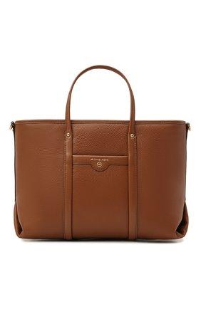 Женский сумка-тоут beck medium MICHAEL MICHAEL KORS коричневого цвета, арт. 30H0GKNT2L | Фото 1