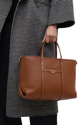 Женский сумка-тоут beck medium MICHAEL MICHAEL KORS коричневого цвета, арт. 30H0GKNT2L | Фото 2