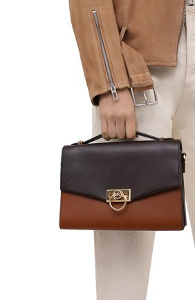 Женская сумка hendrix medium MICHAEL MICHAEL KORS коричневого цвета, арт. 30H0G1HM2L | Фото 2