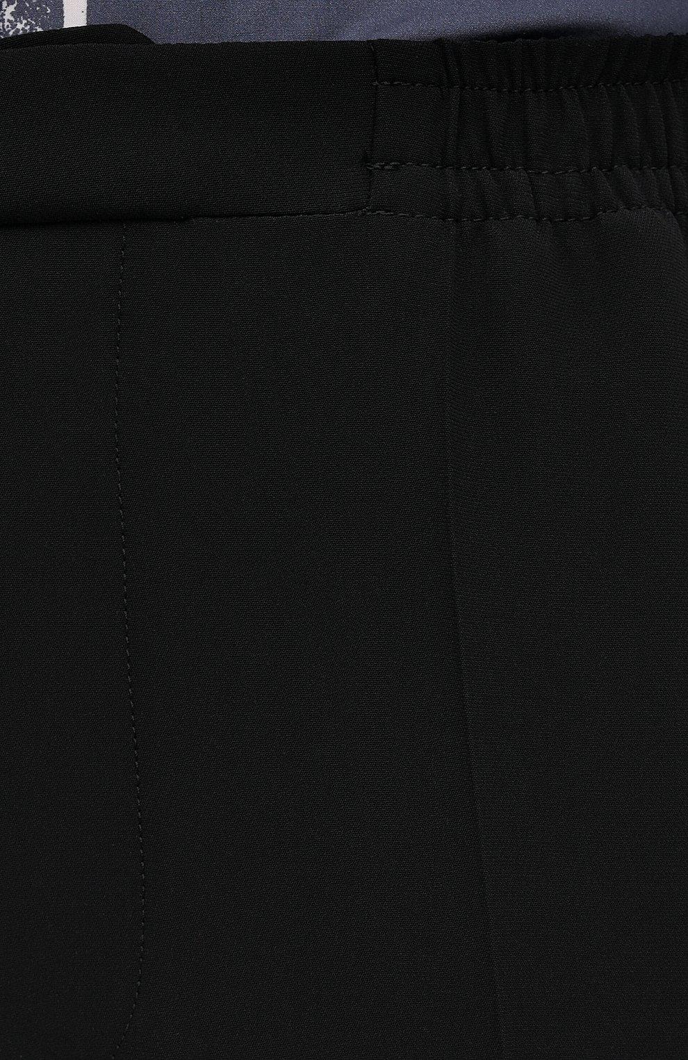Мужские брюки из вискозы ALEXANDER MCQUEEN черного цвета, арт. 619171/QQR38   Фото 5 (Длина (брюки, джинсы): Стандартные; Случай: Повседневный; Стили: Панк; Материал внешний: Вискоза)