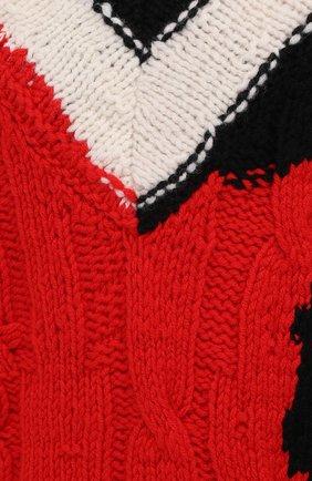 Мужской шерстяной свитер ALEXANDER MCQUEEN разноцветного цвета, арт. 651177/Q1ATN | Фото 5 (Материал внешний: Шерсть; Рукава: Длинные; Длина (для топов): Стандартные; Стили: Гранж; Принт: С принтом; Мужское Кросс-КТ: Свитер-одежда)