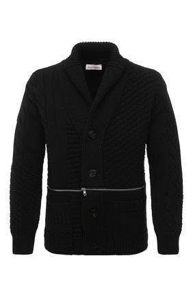 Мужской шерстяной кардиган ALEXANDER MCQUEEN черного цвета, арт. 651190/Q1XBC | Фото 1