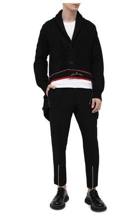Мужской шерстяной кардиган ALEXANDER MCQUEEN черного цвета, арт. 651190/Q1XBC | Фото 2