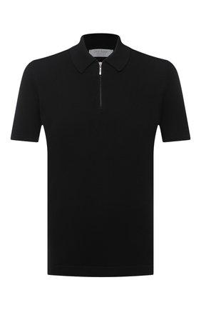 Мужское хлопковое поло GRAN SASSO черного цвета, арт. 58137/18120 | Фото 1