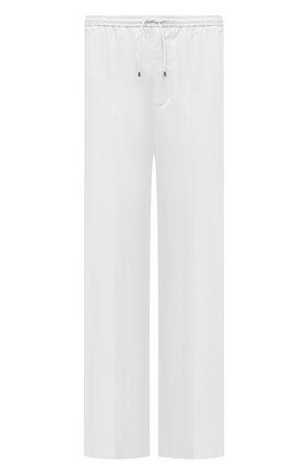 Мужские хлопковые брюки VALENTINO белого цвета, арт. VV3RBG2540Y | Фото 1 (Материал внешний: Хлопок; Стили: Минимализм; Длина (брюки, джинсы): Стандартные; Случай: Повседневный)