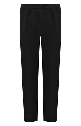 Мужские хлопковые брюки VALENTINO черного цвета, арт. VV3RBG4075Y | Фото 1
