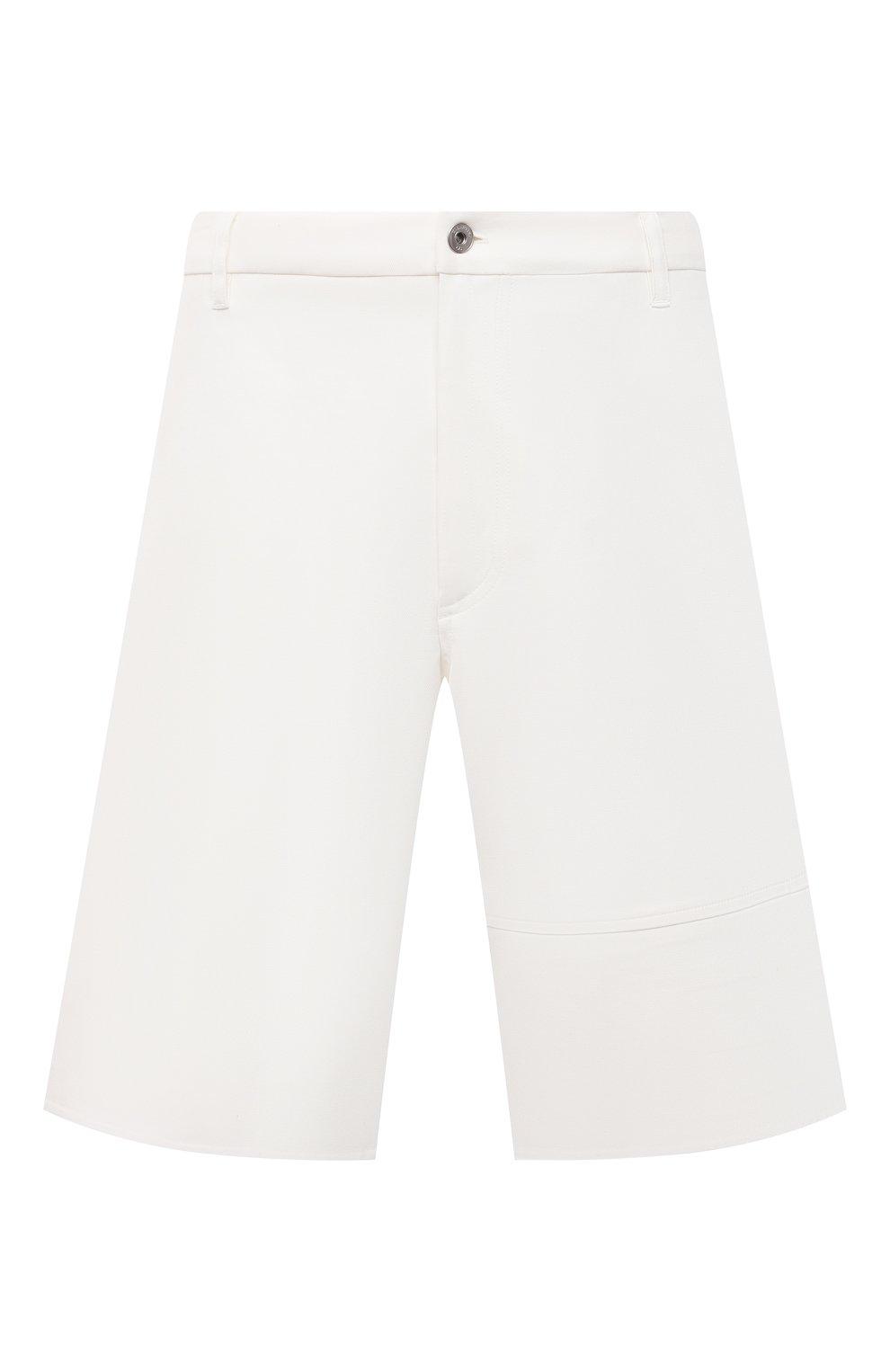 Мужские хлопковые шорты VALENTINO белого цвета, арт. VV3RDB2075Y | Фото 1