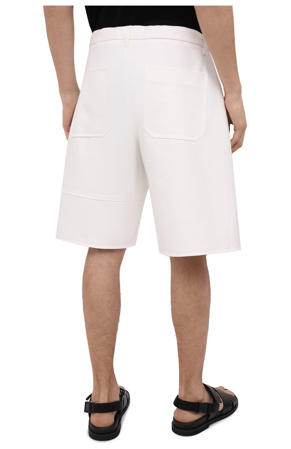 Мужские хлопковые шорты VALENTINO белого цвета, арт. VV3RDB2075Y | Фото 4